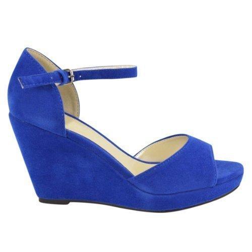 Electric Blue Diamante Shoes
